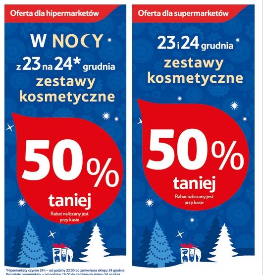 Wyprzedaż -50% na zestawy kosmetyczne w TESCO