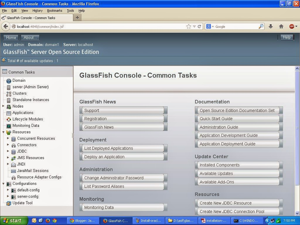 Installation of Oracle-GlassFish Application Server V4 for Java-ee Web Applications hosting, Java Server, glassfish jee application-server, Java Webhosting Server, jee app server, Oracle-app-server, open source java application server, java-ee application hosting, java web action, javawebaction, java web development, oracle adf hosting, jsp hosting, ejb hosting, jsf hosting, jsf application server