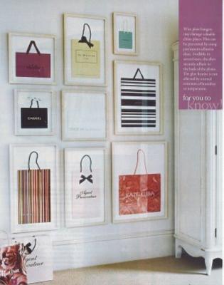quadros+de+sacolas Vida nova para as sacolas velhas