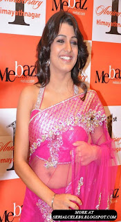 Tashu Kaushik in Pink Saree