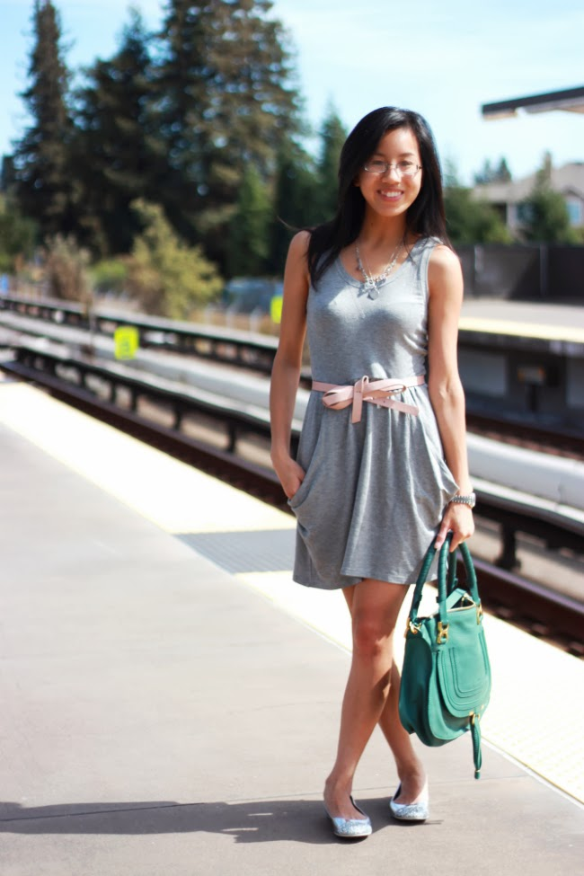 draped jersey dress grey cotton comfy