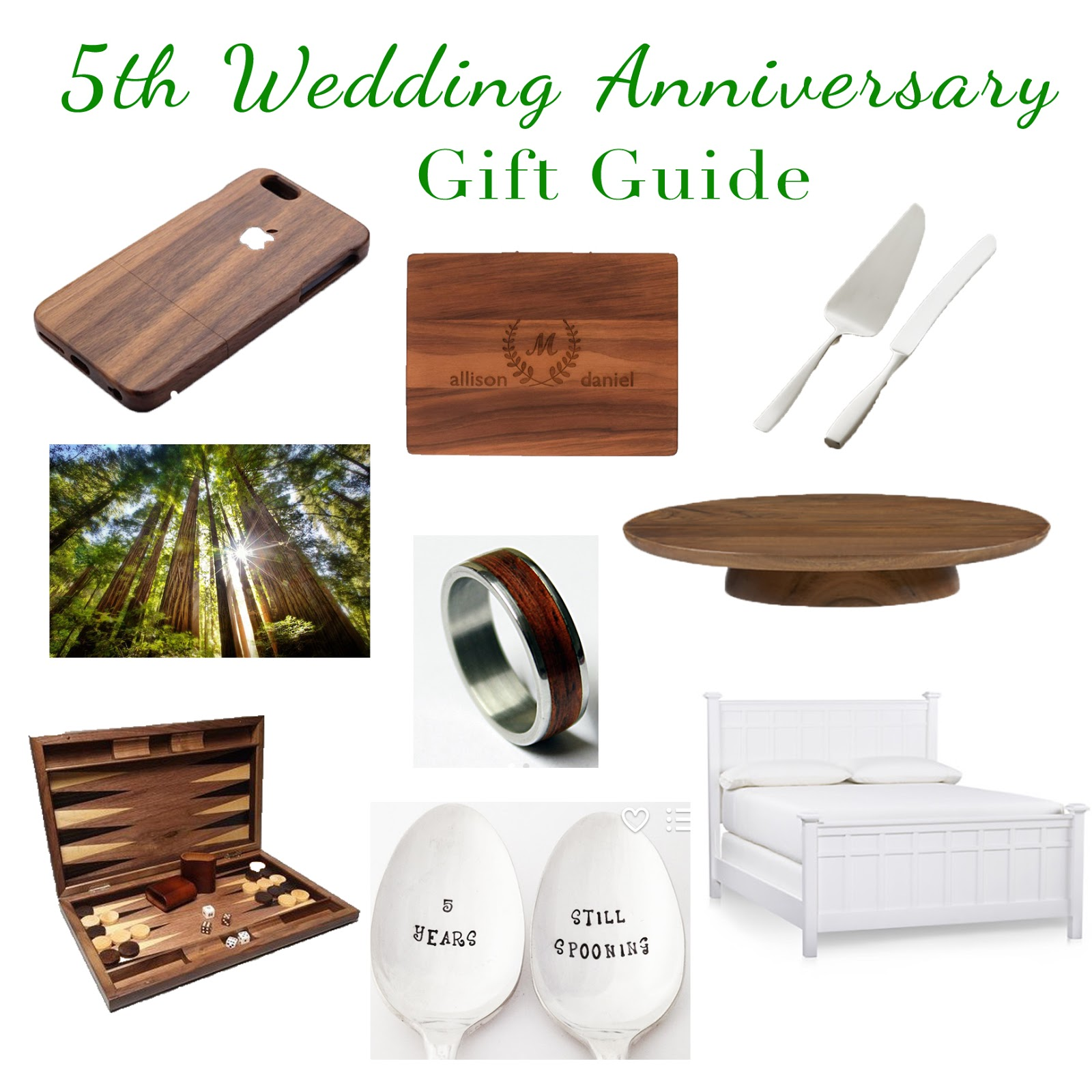 5 year wedding anniversary traditional gift ideas