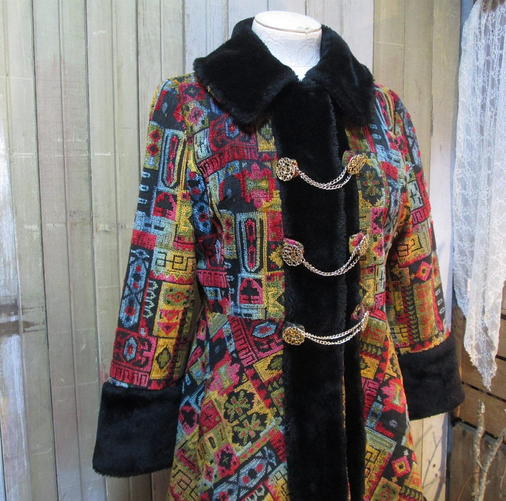 60s Russian Princess Boho Coat