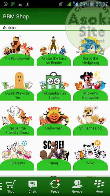 Free Download  Sticker Gratis Semua Versi BBM Android Terbaru