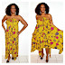 Beautiful Off-Shoulder Ankara Style