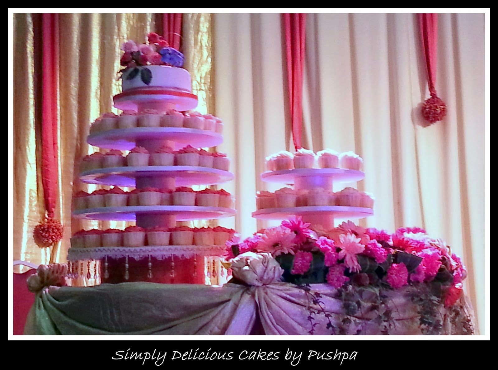 SIMPLY DELICIOUS CAKES Elegant Wedding Cupcake Tower