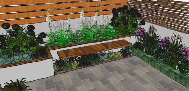 Petit jardin design for Small garden designs pictures uk