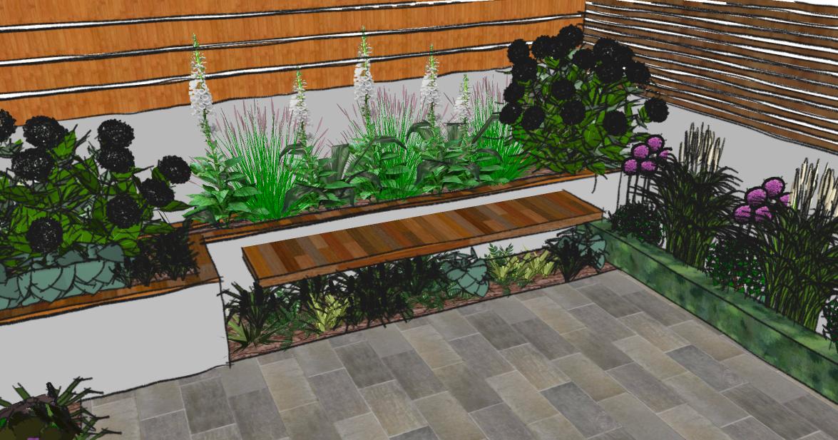 Petit jardin design id es d co pour maison moderne for Petit jardin design