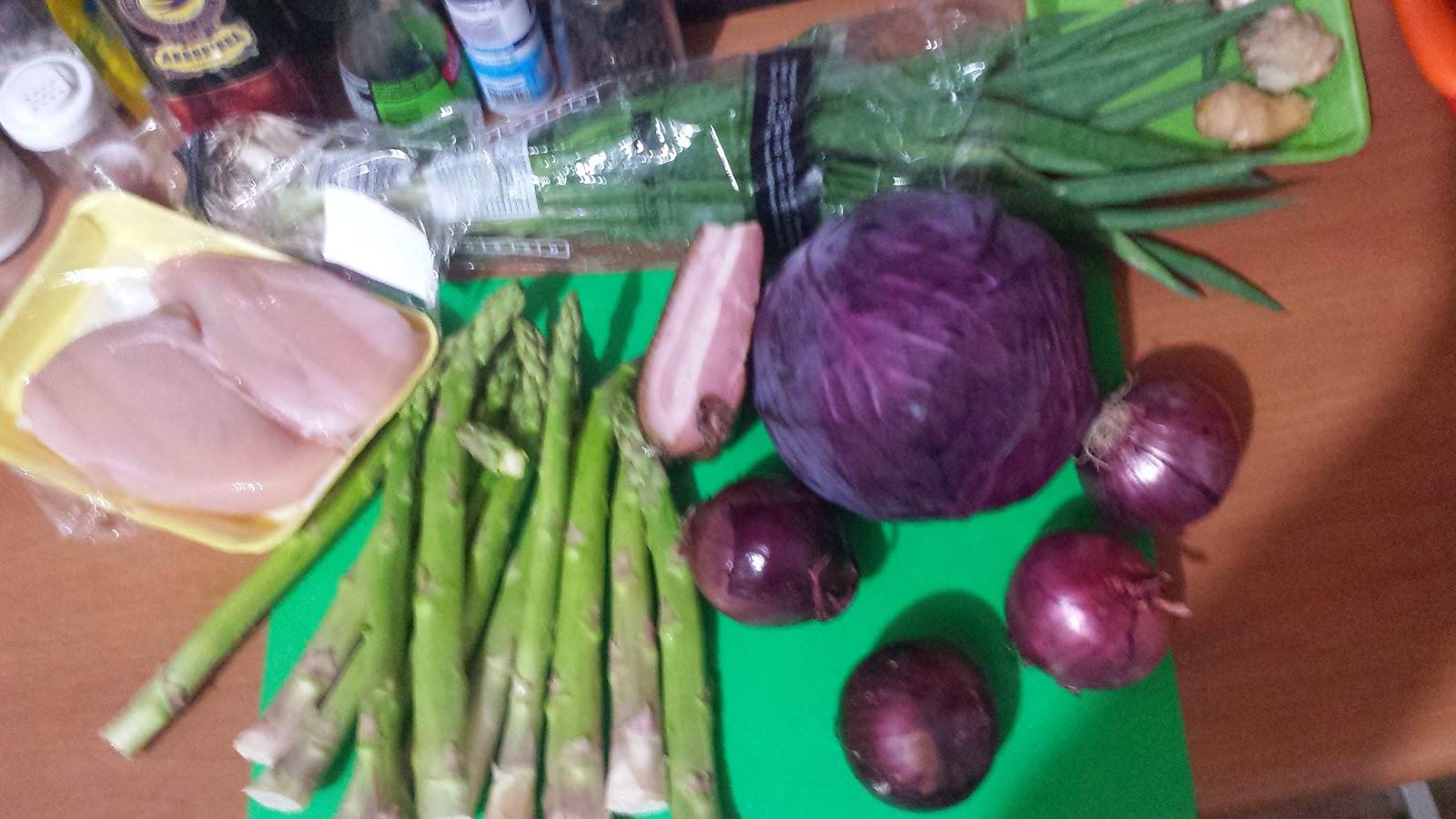 sopa de aspargos com frango low carb repolho roxo