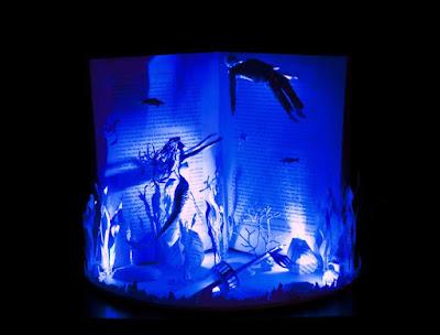 incredible book sculptures by Karine Diot
