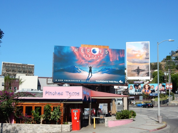 Heroes Reborn TV series billboard