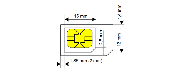 ... MicroSIM, So You Simply Adaptáis Card That Size. There Are Even Models  That Are Short Of The Rectangle Occupied By The Circuit To Make The  Conversion.
