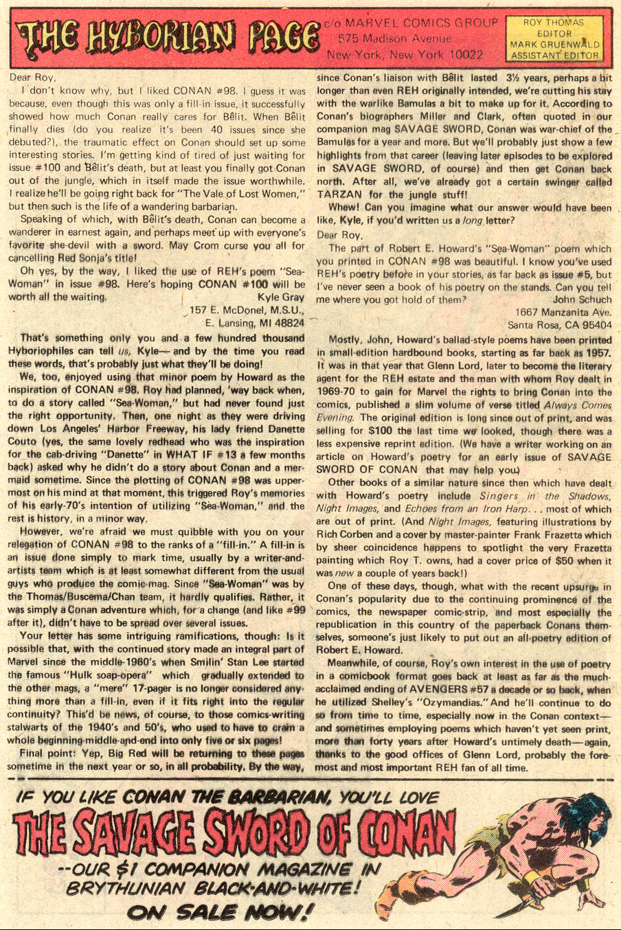 Conan the Barbarian (1970) Issue #102 #114 - English 20
