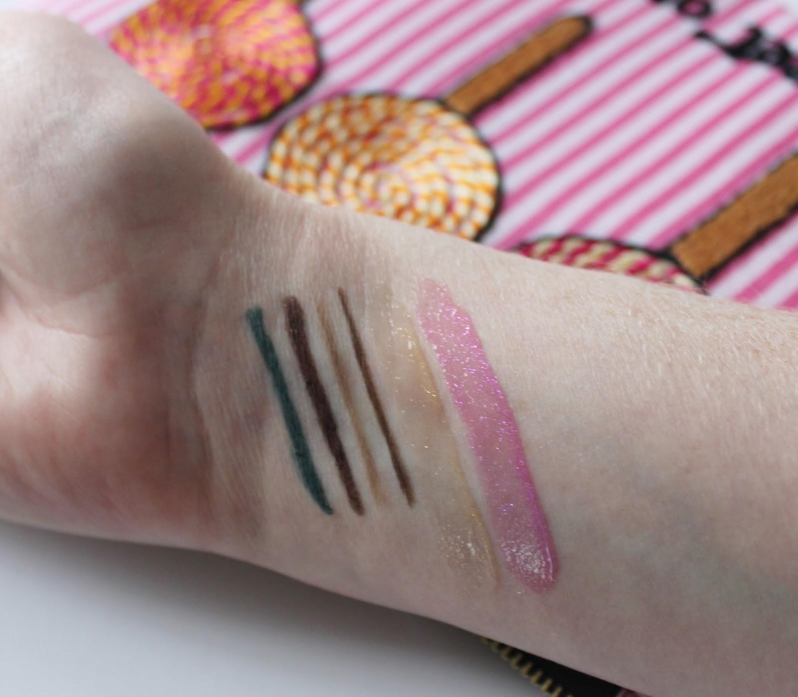 Elizabeth Arden untold aw14 makeup swatches