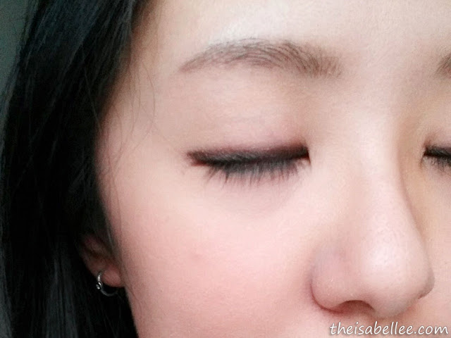 Eyemake using Holika Holika Jewel Light Waterproof Eyeliner (Brown Amber)