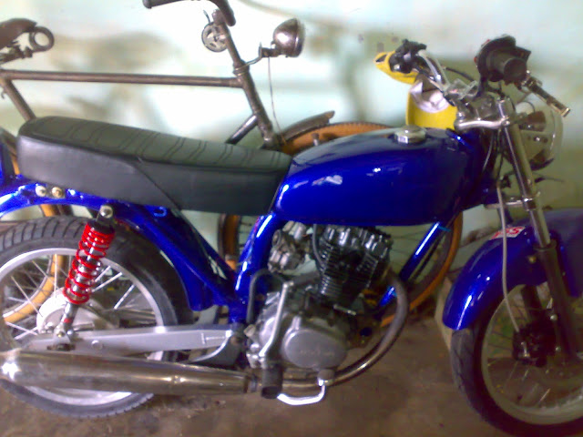 MOTOR HONDA CB 100-BLUE FRESH FULL MODIFICATION SOLO title=