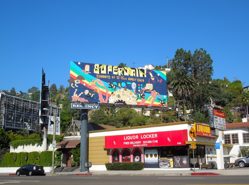 Superjail season 3 billboard Sunset Boulevard
