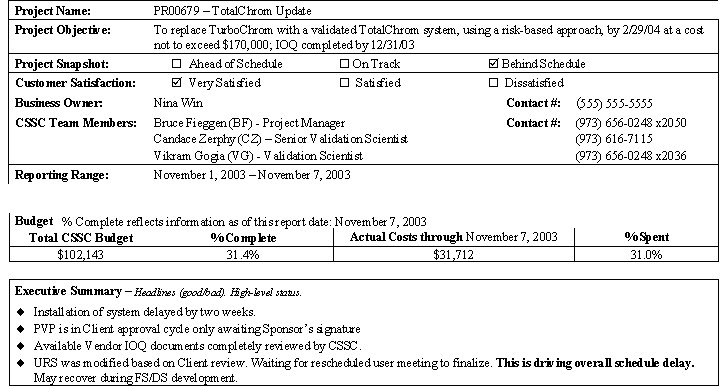 Doc452559 Project Status Sheet One Page Project Status Report – Status Report Examples