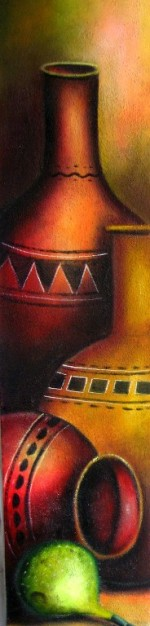 Im genes arte pinturas bodegon alargado vertical for Cuadros verticales modernos