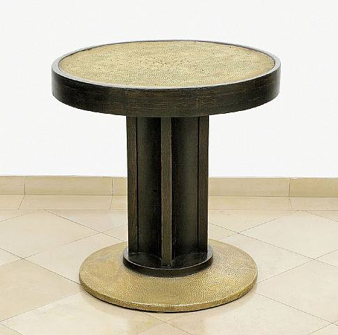 Josef Hoffmann , Round Table with Brass Table Top, circa 1905