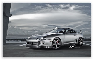 Animated Toyota Supra Wallpaper | Image | Photo | Red | Blue | black