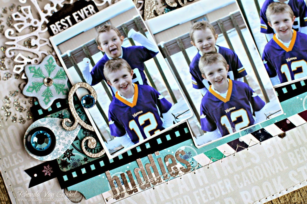 Best Ever Buddies Scrapbook Page by Rhonda Van Ginkel for BoBunny Featuring Altitude Collection