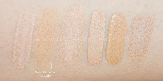 Neve Cosmetics swatch Nascondino correttore Light