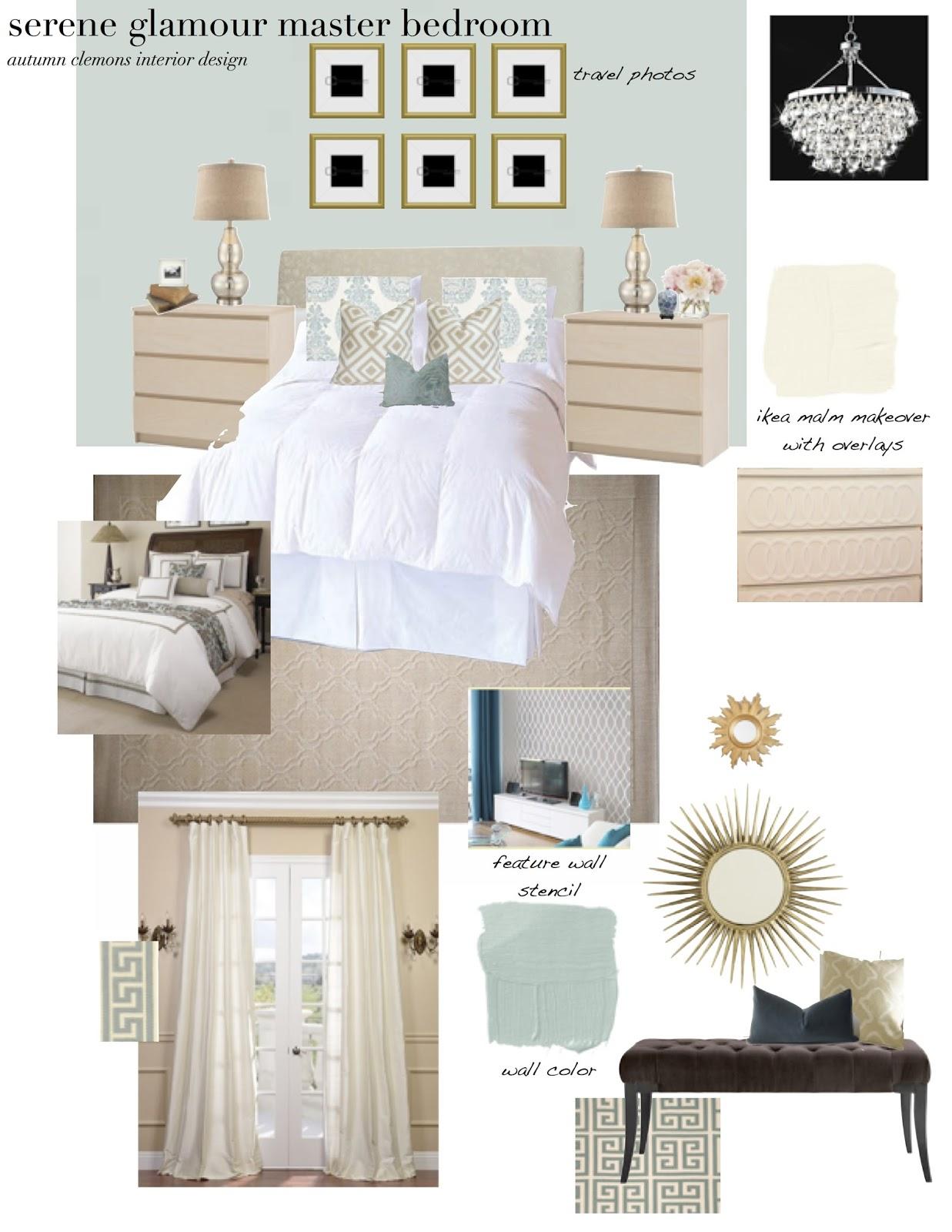 Design Dump Design Plan Serene Glamour Master Bedroom