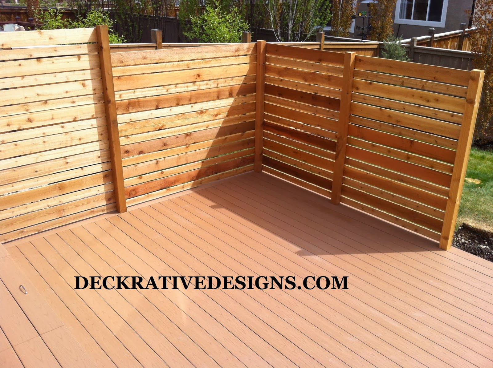 how to create privacy on a raised deck