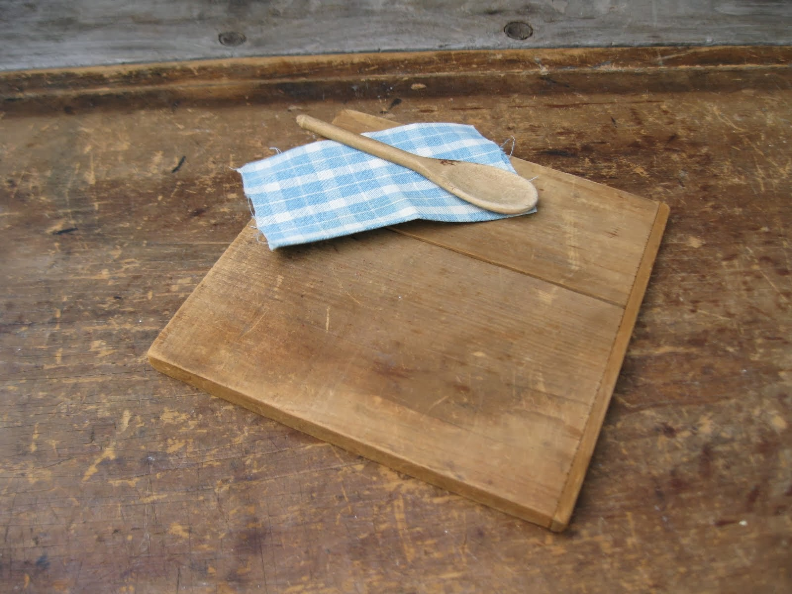 Toy Pastry Board and Spoon