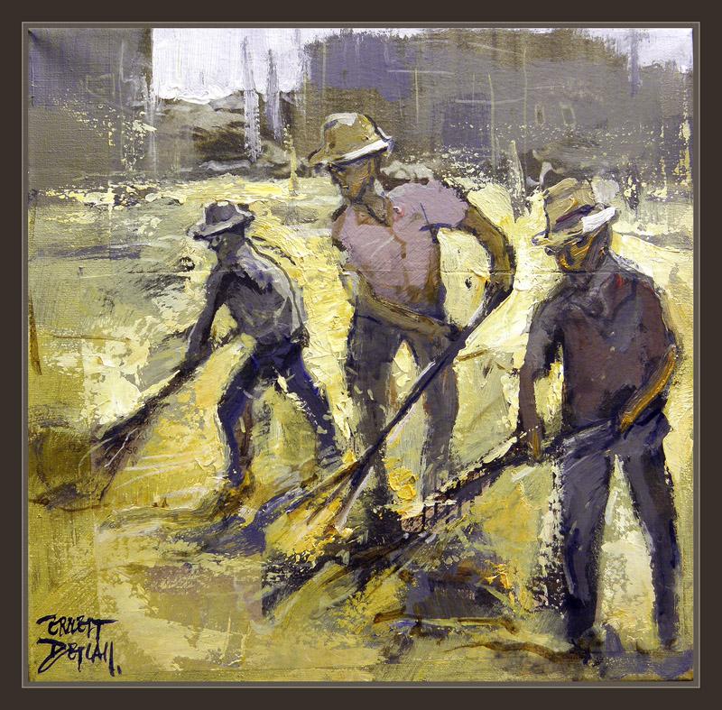 Venta Pintura.Pintor Ernest Descals: SIEMBRA-PINTURA-ESPAÑA-CAMPO ...