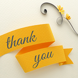 Paper Zen: Printable quilled thank you card and envelope