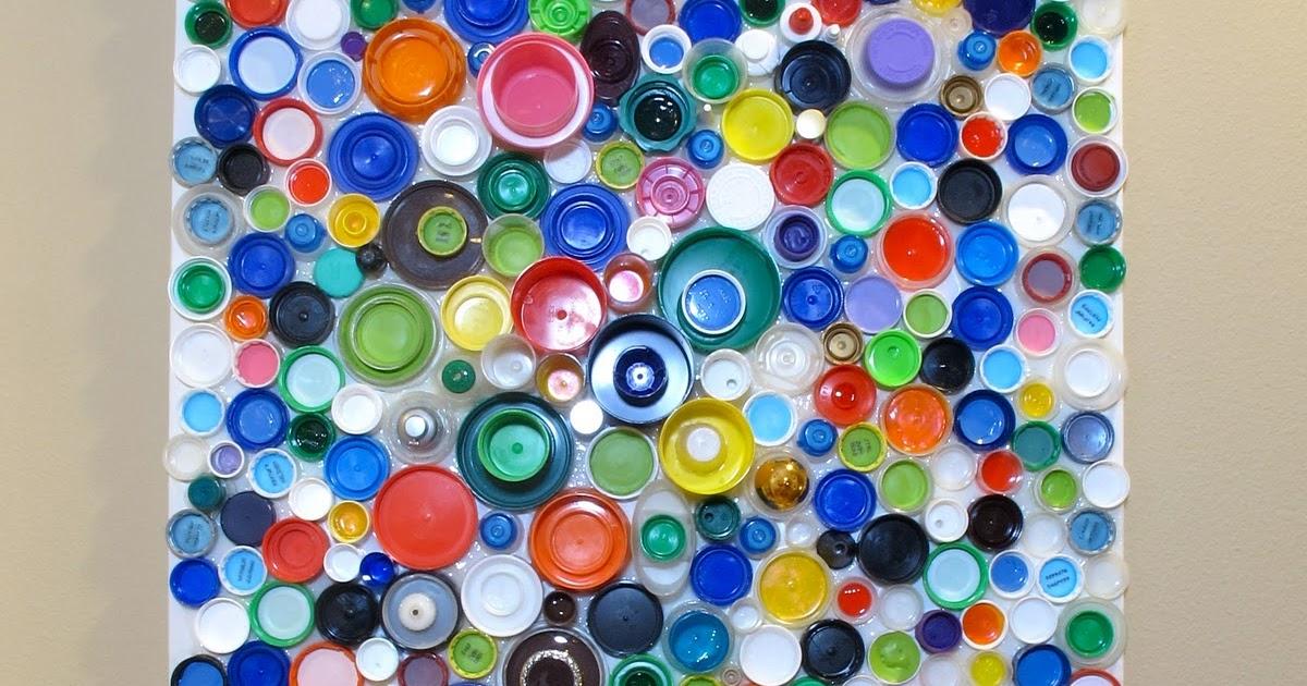 Blukatkraft How To Make An Upcycled Plastic Bottle Cap Mosaic