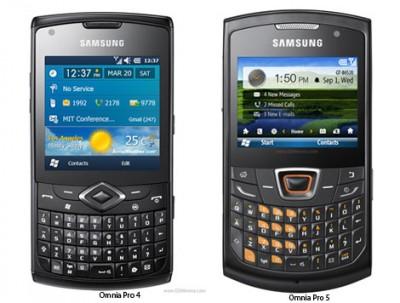 2 Samsung Baru, Omnia Pro 4 dan Pro 5