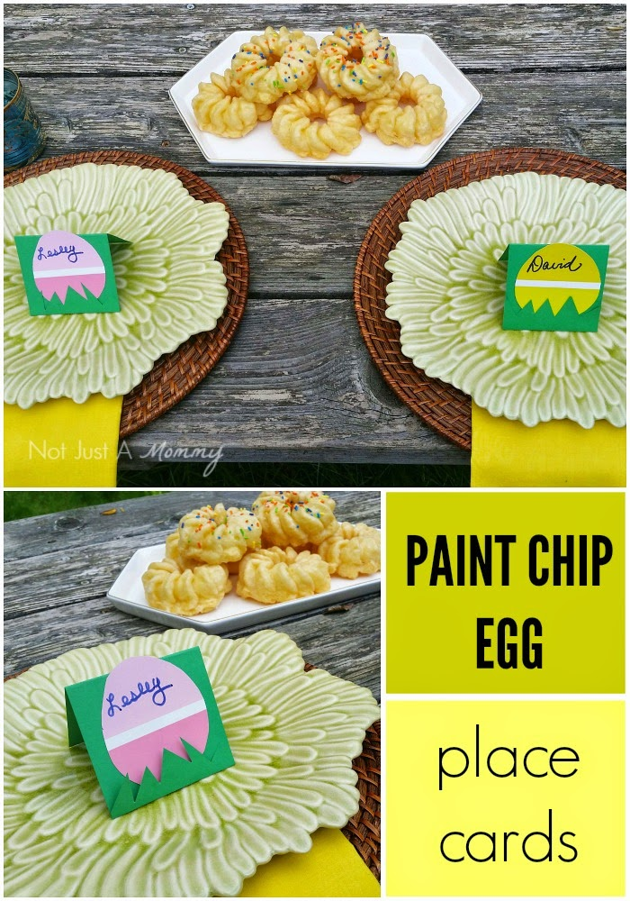 Paint Chip Easter Egg Place Cards