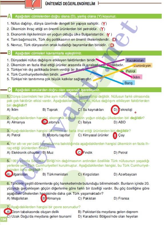 2012 2013 6 sınıf sosyal bilgiler ders kitabı cevapları altın
