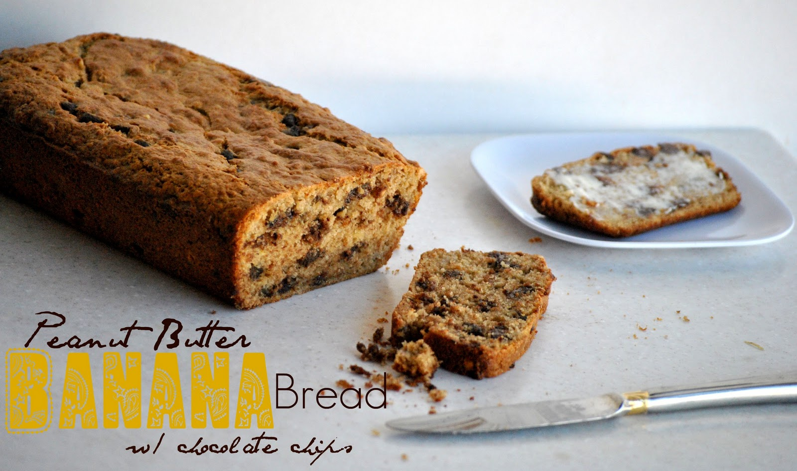 The Farm Girl Recipes: Peanut Butter Banana Bread with Chocolate Chips