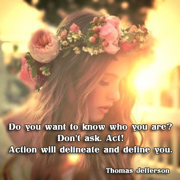 facebook Poste image quotes (Do you want to know who you are Don't ask ...)