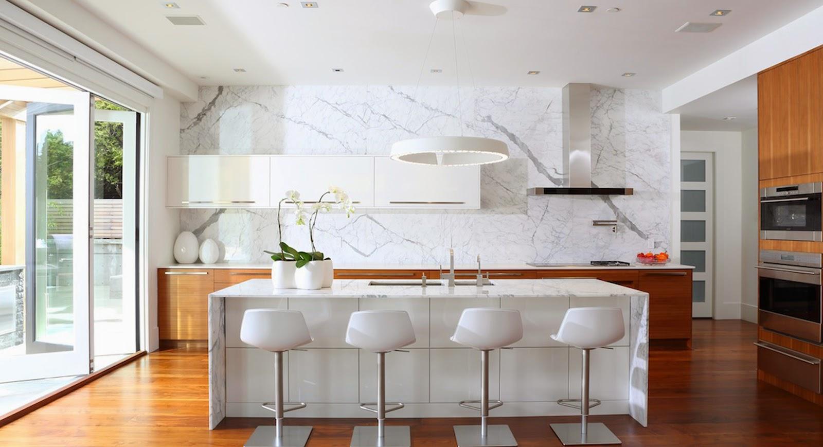 Materiales naturales m s actuales que nunca cocinas con for Clases de marmol para cocinas
