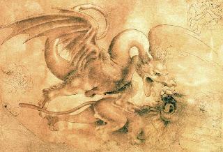 Leonardo da Vinci. Leon contra Dragon