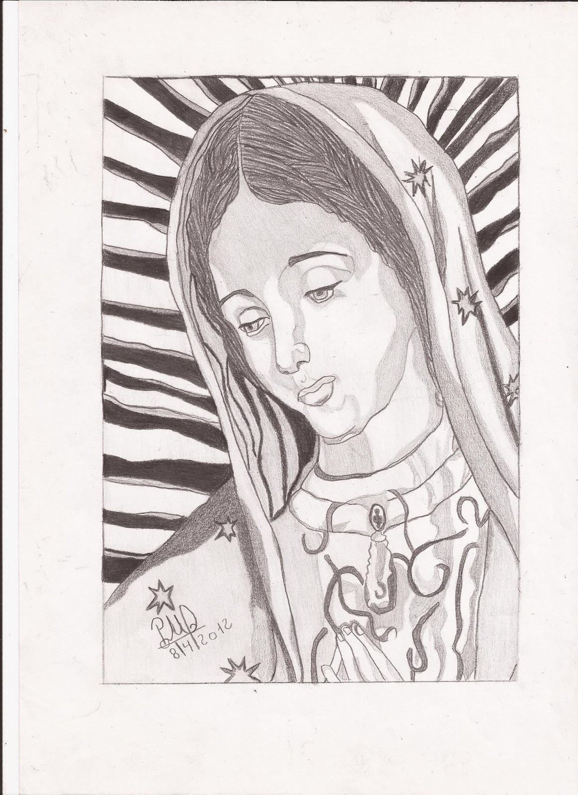 Dibujos de la Virgen de Guadalupe - Imagui