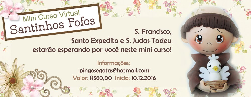 Mini Curso Virtual Santinhos Fofos