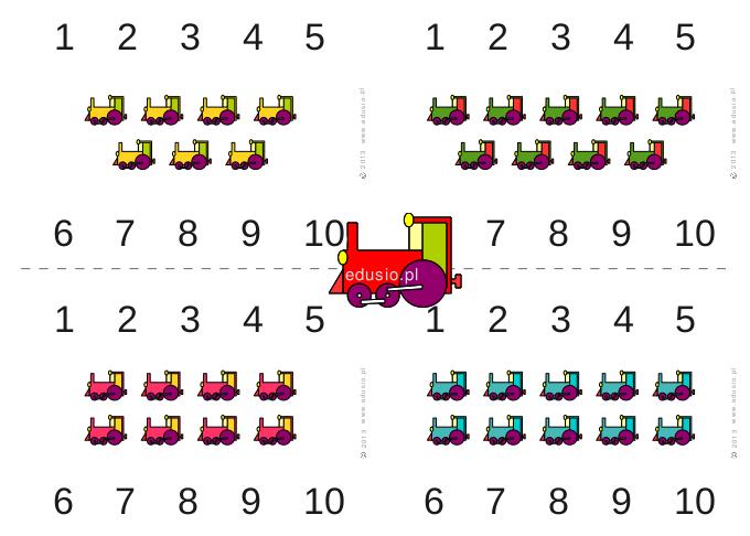 liczenie do 10 do wydrukowania