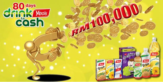 80 days drink to cash by yeo's malaysia