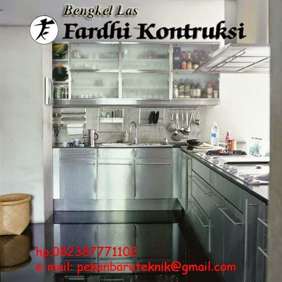 Kitchen set rak rak dan lemari stainless steel for Harga kitchen set stainless steel