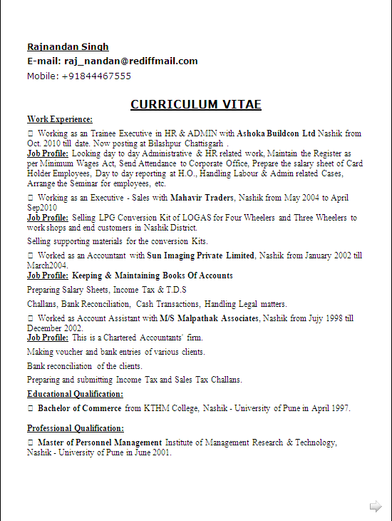 resume sle in word doc mba hr adm 12 years
