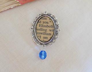 image elizabeth bennet brooch sapphire blue bouquet pin two cheeky monkeys jane austen pride and prejudice