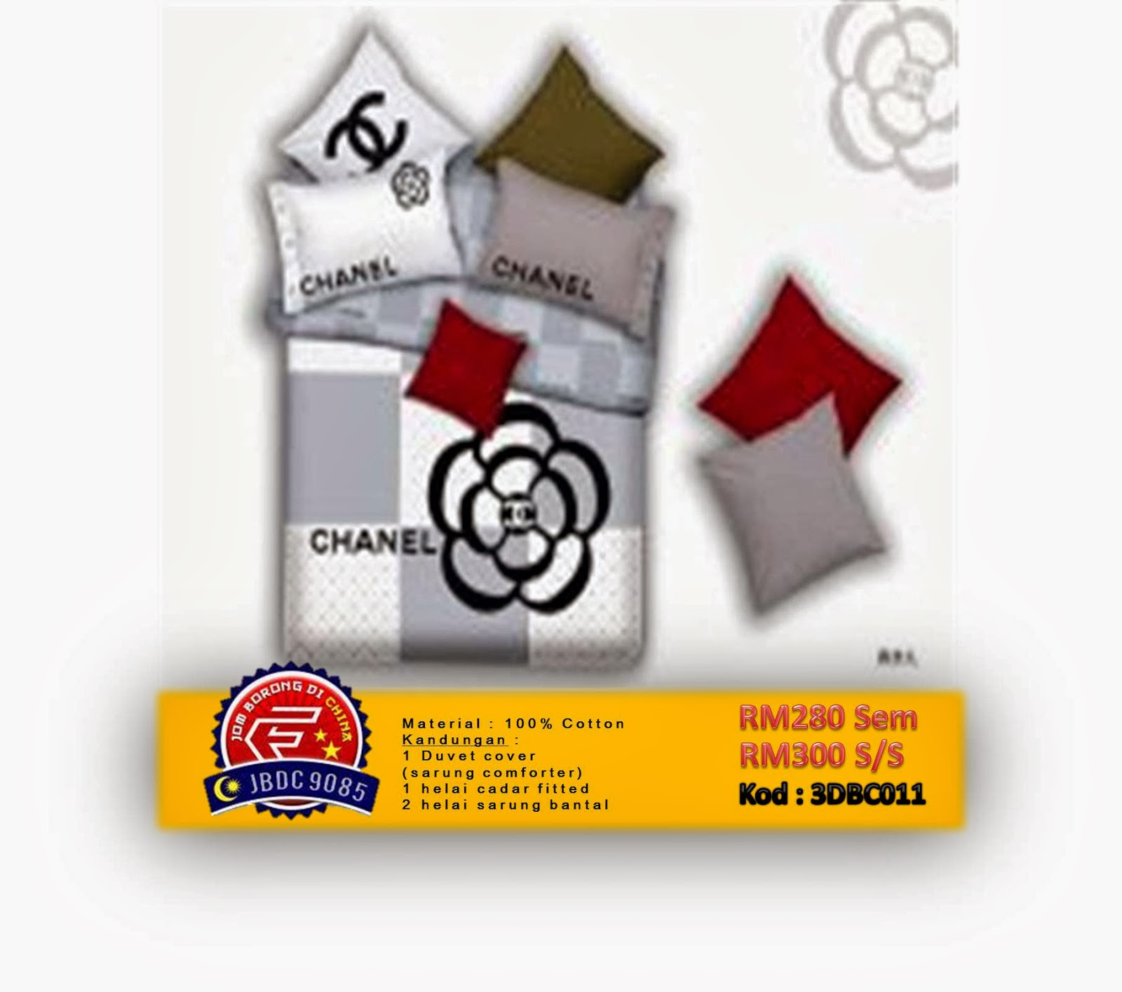 SET CADAR 3D COTTON BRANDED