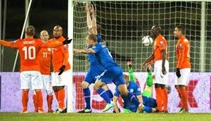 Eliminatórias Eurocopa: Islândia 2 x 0 Holanda