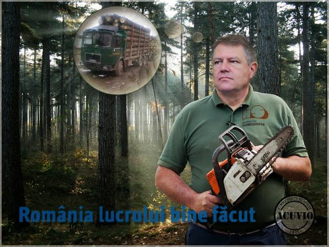 Klaus Iohannis Pădurile Pas cu Pas Funny photo